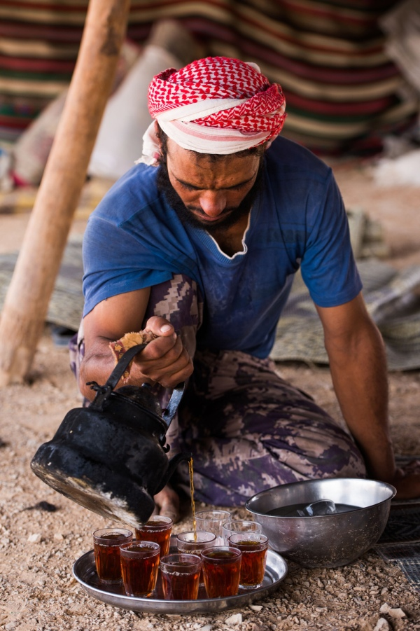 Making Bedouin Tea or Chai