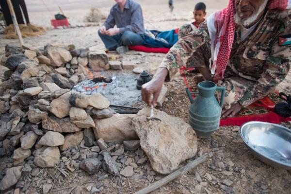 Abu showing us the dried scorpian