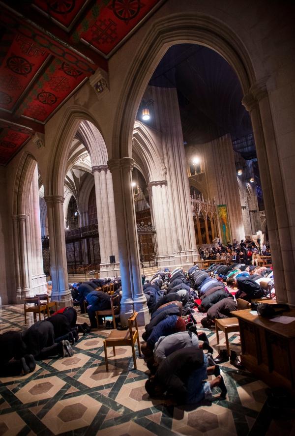 Mulsim Prayer Service at Washington Cathedral